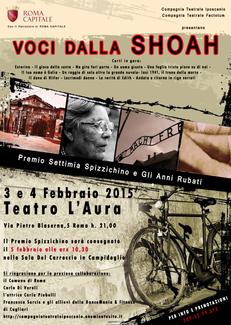 Voci dalla Shoah al Teatro L'Aura di Roma
