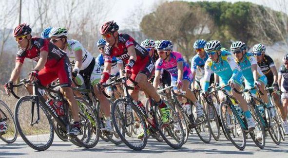 Corsa Ciclistica Tirreno-Adriatico 2015 a Cascina