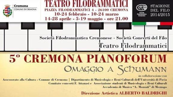 Cremona Pianoforum 2015 - Omaggio a Schumann