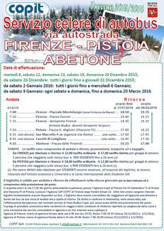 Autobus veloce FIRENZE – PISTOIA - ABETONE inverno 2015 / 2016