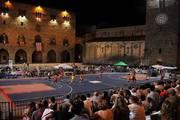 La giostra del basket in piazza del Duomo