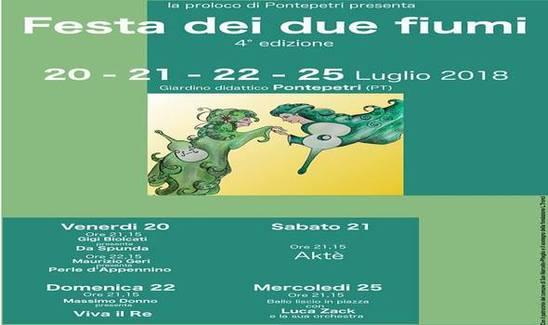 La festa dei due fiumi a Pontepetri