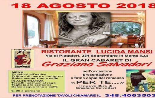 Cena e musica con Graziano Salvadori