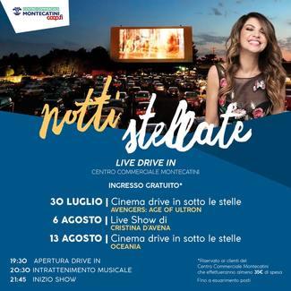 13 agosto 2020 cinema drive in presso Ipercoop Montecatini Terme